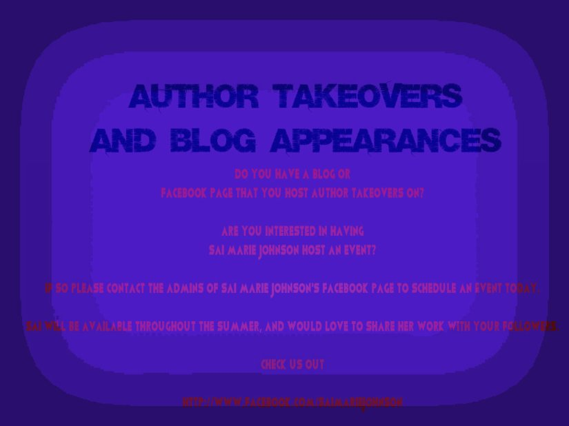 Author Takeover Events, and Blog Tour Hops!
